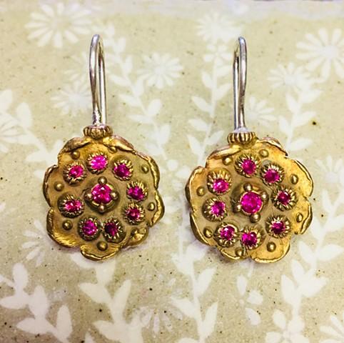 Bronze Disk Earrings