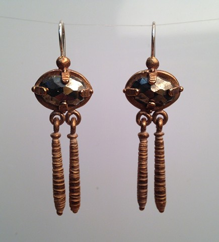 Pyrite Trembling Earrings