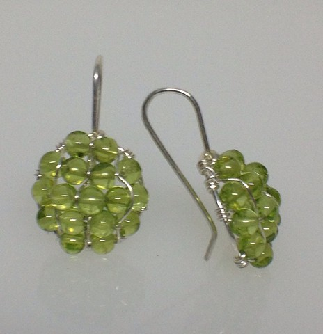 Pompeiian Peridot Earrings