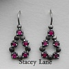 Chain of Disks Droplet Earrings with Rubies