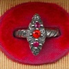 Vesica Piscis Ruby and Sapphire Ring