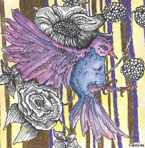 Purple Bird