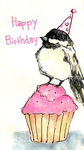 Birdy Birthday Card