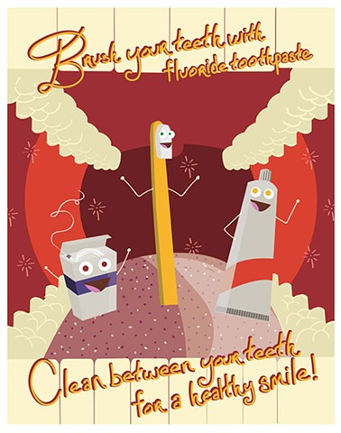 Illustration by Estrella Velez Product and Licensing  American Dental Association Poster
