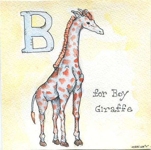 """B is for boy Giraffe"""