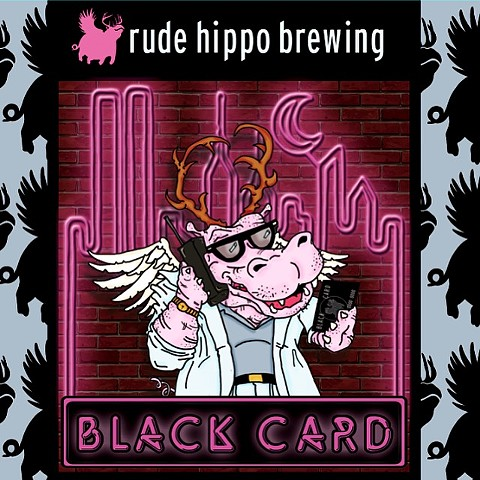 Black Card Label Concept