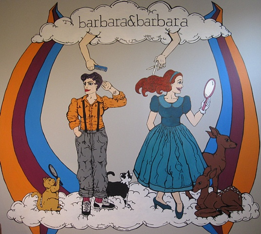 mural, barbara&barbara, salon