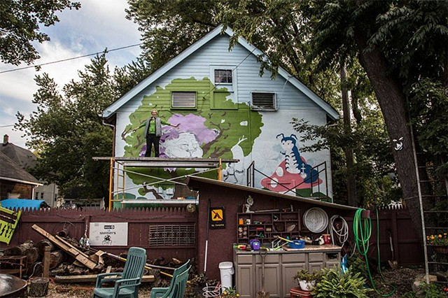 Alice in Wonderland Mural Progress