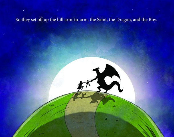The Reluctant Dragon  Illustrations by: Alekos Manikas Book Illustration