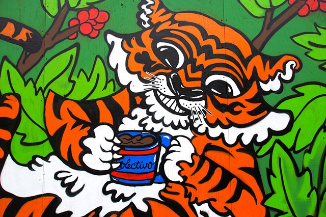 """Animals of Sumatra"" Colectivo Coffee Mural"
