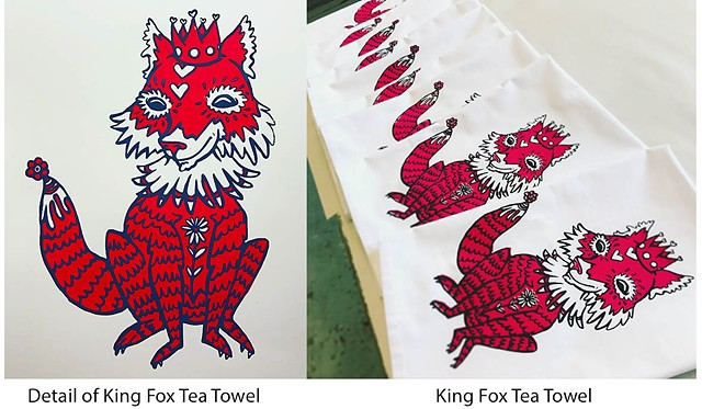 King Fox Tea Towel