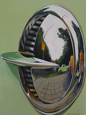 Acrylic painting on canvas. Automotive art.