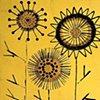 Flower Circles on Gold