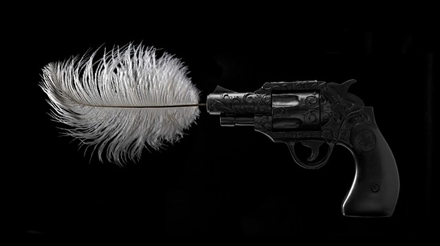 Gun and feather