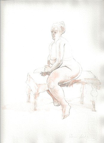 Seated figure