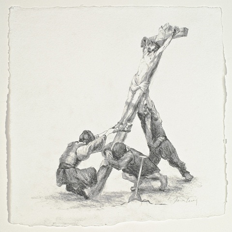 Raising of the Cross, after Rembrandt
