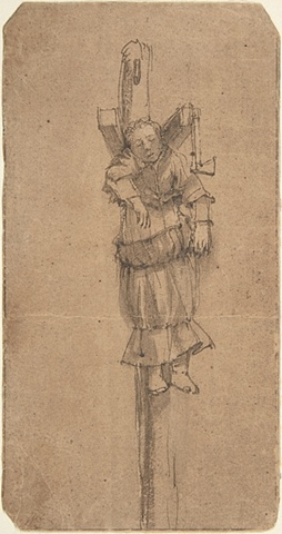Woman Hanging from a Gibbet, after Rembrandt