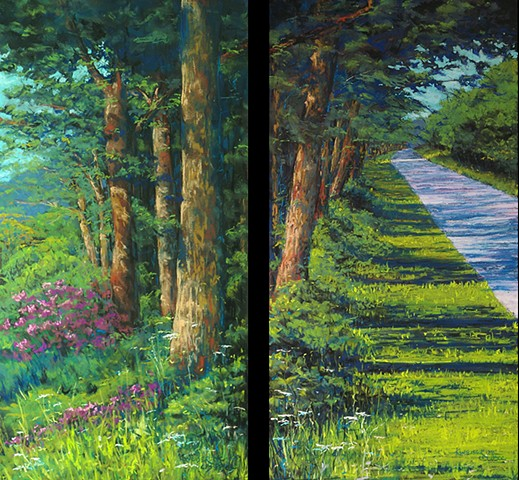 Valley Ridge (diptych)