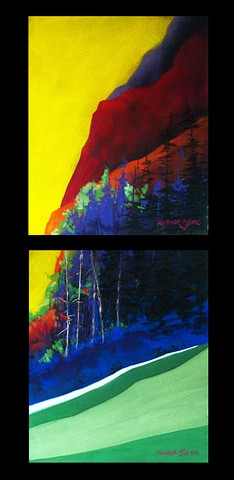 Valley Wall (Diptych)
