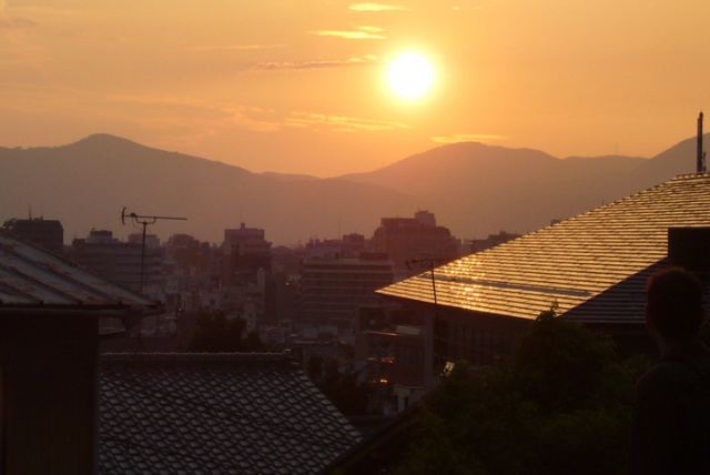 Sunset over Kyoto