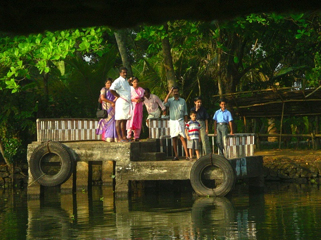 Waiting for the Water Taxi, Kerala, India.