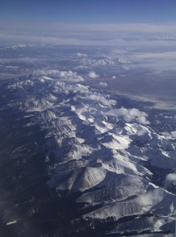 Aerial View, Rocky Mountains, Colorado.