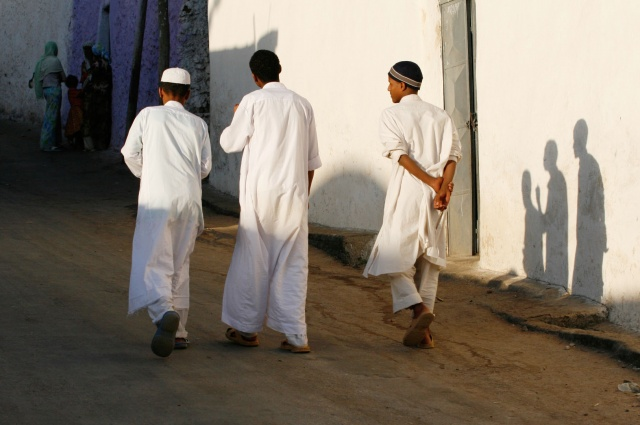 Three Young Men, Harar, Ethiopia.
