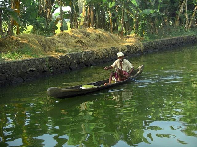 Canoe, Kerala, India.