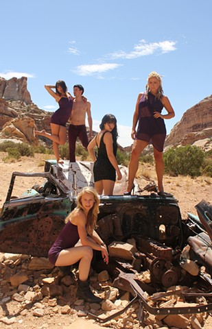 Promotional photo for a dance company, Goblin Valley, Utah.