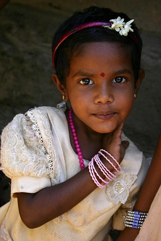 Portrait of a young Keralite girl, India.