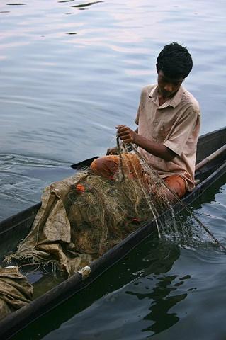 Young Fisherman, Kerala, India.