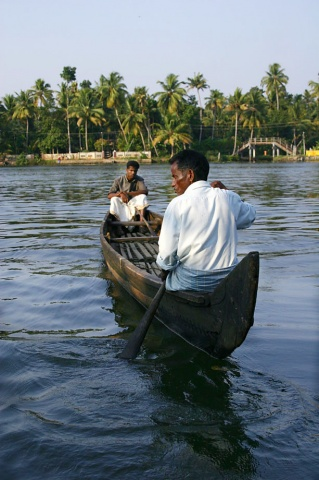 Canoe, Kerala, India.