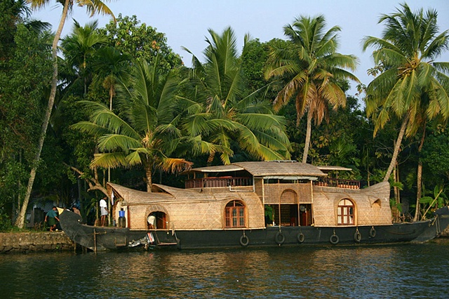 Houseboat for Tourists, Kerala, India.