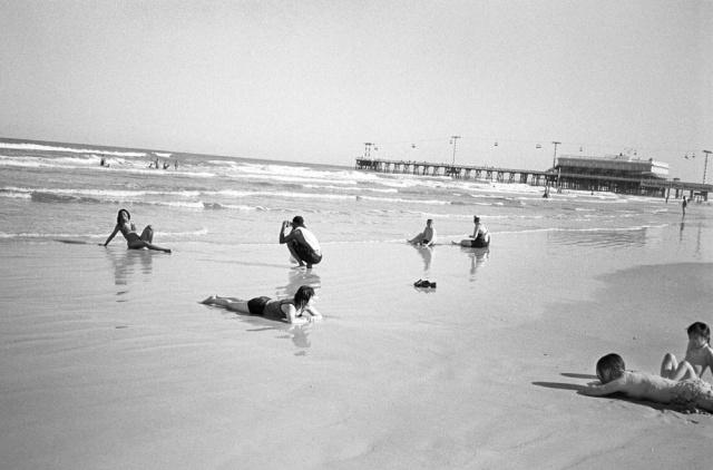 Beach Scene, Daytona Beach, Florida.
