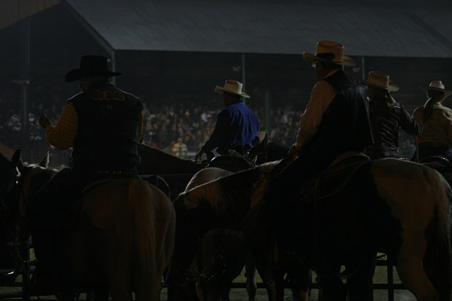 Cowboys waiting for their event, Boonville Country Fair.