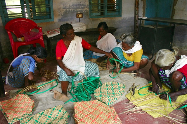Basket Weavers, Kerala, India.