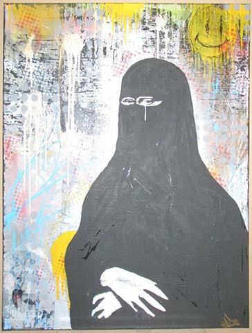 ona islam (messy background)
