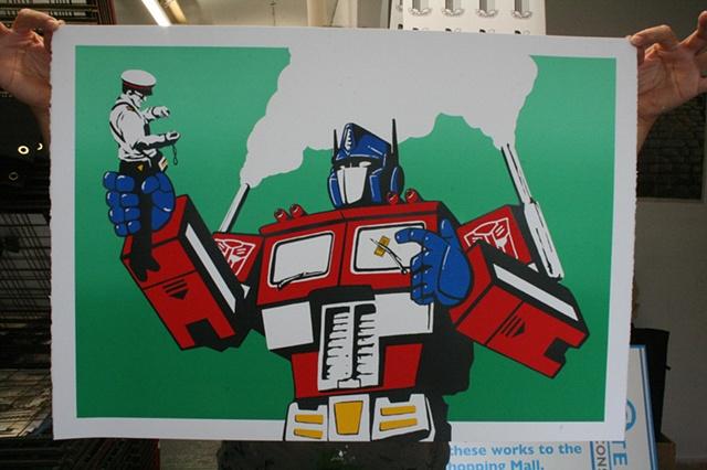 Optimus Primed ! (green gradiant)