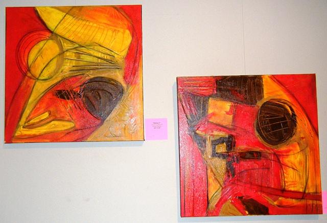 Daisy Paintings @ UU Church Exhibit