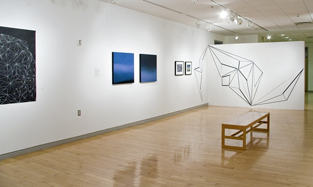 installation view of Jump in Trajectory Exhibit