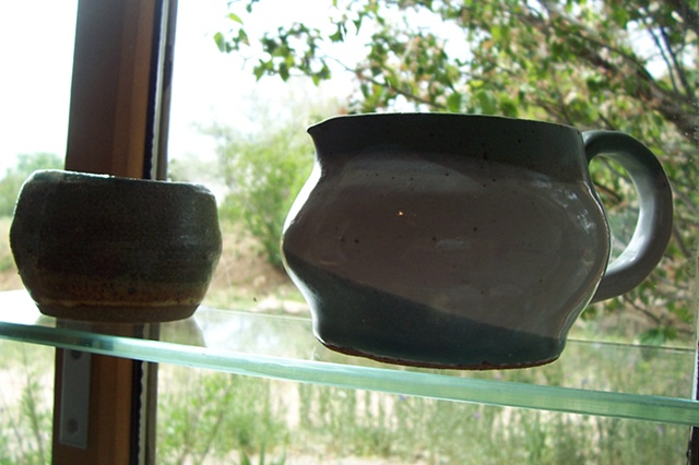 Pitcher and small bowl