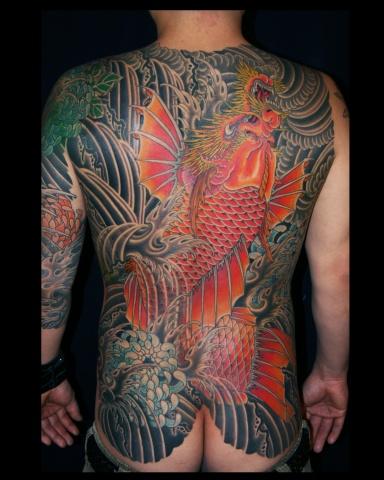 Koi Dragon Tattoo / Tatuagem de Carpa Dragao