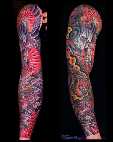 Namakubi & Oni Tattoo / Tatuagem de Namakubi e Oni (Demonio Japones)