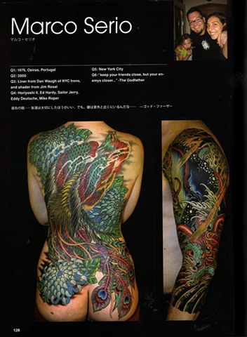 "Marco Serio featured in ""We are tattoo"" book."