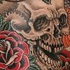 Snake, Skull, & Rose Tattoo / Tatuagem de Cobra, Caveira, e Rosas