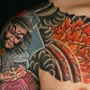 Warrior, and Snake tattoo / Tatuagem de Guerreiro, Cobra e Flores