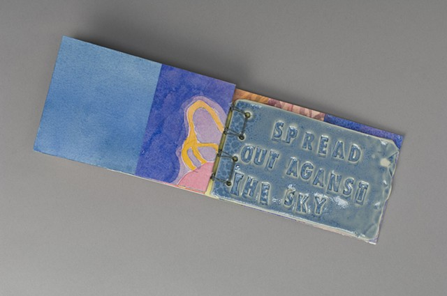 The Love Song of J. Alfred Prufrock  ceramic page  SPREAD OUT AGAINST THE SKY