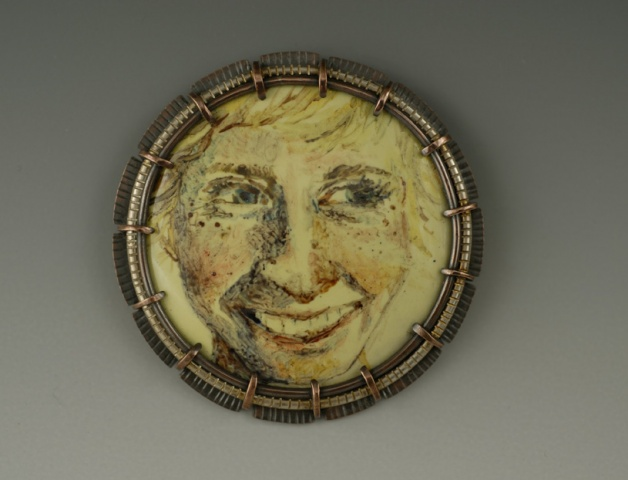 Laughing (from the Self-Portrait Brooch series)