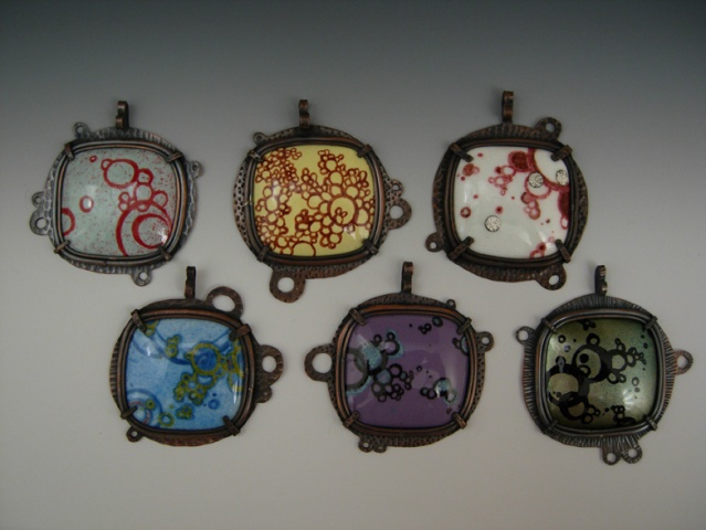 Painted Enamel Pendant Series
