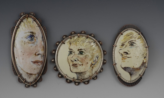 Self Portrait Brooch series- grouping